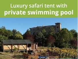 Photo: Luxury safari tent with private swimming pool